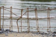 Barre d'acciaio di rinforzo Immagini Stock Libere da Diritti