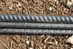 Barre d'acciaio di rinforzo per l'armatura di costruzione Immagini Stock Libere da Diritti