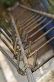 Barre d'acciaio di rinforzo per l'armatura di costruzione Fotografie Stock Libere da Diritti