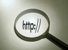 Barre d'adresse de HTTP photographie stock libre de droits