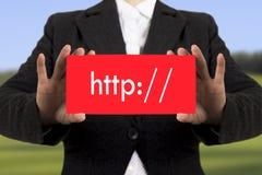 Barre d'adresse de HTTP photo libre de droits