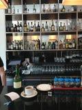 Barre dans le restaurant portugais Photo libre de droits