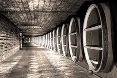 Barre de barils de vin Photographie stock