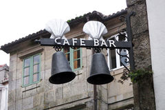 Barre de café de Santiago Photos libres de droits