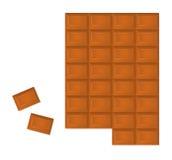 Barre de chocolat Image libre de droits