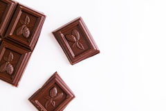 Barre de chocolat images stock