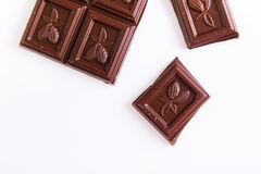 Barre de chocolat photo stock