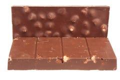 Barre de chocolat d'isolat sur le fond blanc photos stock