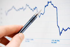 barre de contrôle du marché de graphiques Photo stock
