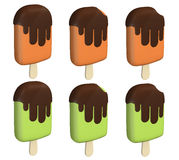 Barre de crème glacée de chocolat Photo libre de droits