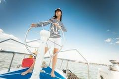 Barre de fille d'un yacht Image libre de droits