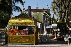 Barre de fruit dans le style turc, Istanbul, Turquie image libre de droits