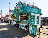 Barre de fruits de mer du ` s de Molly Malone à Scarborough photo stock