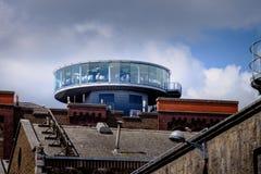Barre de gravité à la brasserie Dublin de Guinness Image libre de droits