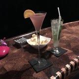 Barre de luxe de cocktail image stock