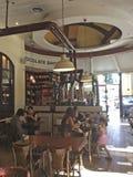 Barre de Max Brenner Chocolate à Tel Aviv, boulevard de Rothshild, Israël Images stock