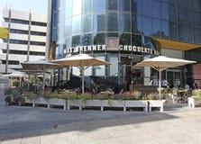 Barre de Max Brenner Chocolate à Tel Aviv, boulevard de Rothshild, Israël Image stock
