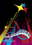 Barre de piano illustration stock