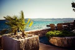 Barre de plage en Croatie Photographie stock libre de droits