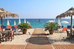 Barre de plage par la mer Photo libre de droits