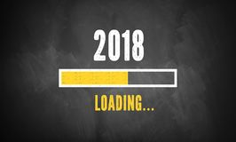 Barre de progrès montrant le chargement de 2018 Photographie stock