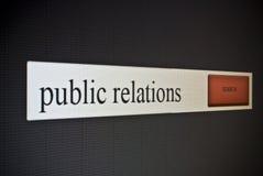 Barre de recherche d'Internet avec des relations publiques d'expression Photos stock