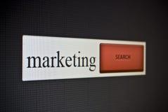 Barre de recherche d'Internet avec le marketing d'expression Photographie stock libre de droits
