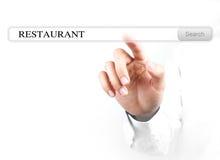 Barre de recherche de restaurant de contact photo libre de droits