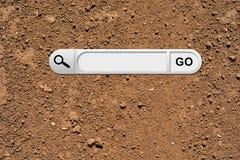 Barre de recherche en navigateur photos libres de droits