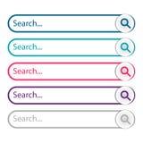 Barre de recherche, ensemble de recherche illustration de vecteur