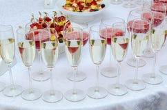 Barre de restauration pour la célébration Intérieur pour le jour du mariage Photographie stock