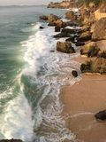 Barre de roche d'océan de Bali photo libre de droits