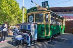 Barre de tram à Melbourne, Australie photographie stock