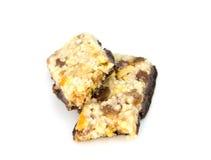 Barre del cereale di muesli Barre della proteina dell'avena di Nutri Fotografia Stock