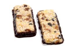 Barre del cereale di muesli Barre della proteina dell'avena di Nutri Immagini Stock