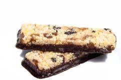 Barre del cereale di muesli Barre della proteina dell'avena di Nutri Immagine Stock