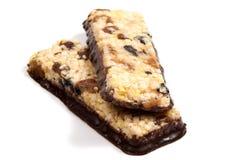 Barre del cereale di muesli Barre della proteina dell'avena di Nutri Fotografia Stock Libera da Diritti