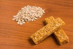 Barre del cereale di muesli Nutri, avena, barre della proteina Immagine Stock Libera da Diritti