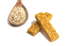 Barre del cereale di muesli Nutri, avena, barre della proteina Fotografia Stock Libera da Diritti