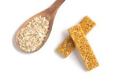 Barre del cereale di muesli Nutri, avena, barre della proteina Fotografie Stock Libere da Diritti