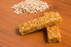 Barre del cereale di muesli Nutri, avena, barre della proteina Fotografia Stock