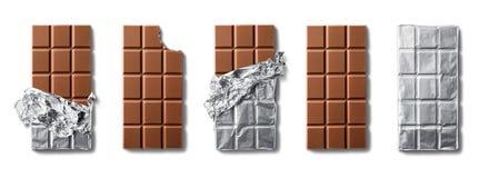 Barre del cioccolato al latte fotografie stock