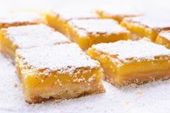 Barre del limone del dessert della frutta Fotografia Stock