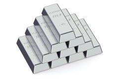 Barre del platino Fotografia Stock