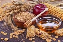 Barre della proteina del cereale Fotografia Stock Libera da Diritti