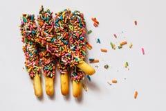 Barre di caramella dolci di conteggio Immagini Stock
