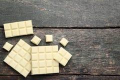 Barre di cioccolata bianca fotografia stock libera da diritti