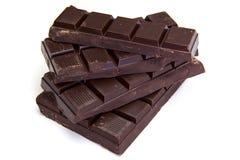 Barre di cioccolato scure Immagini Stock