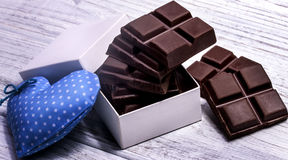 Barre di cioccolato scure Immagini Stock Libere da Diritti