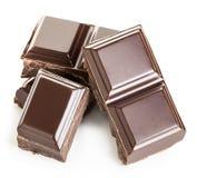 Barre di cioccolato su un fondo bianco Fotografie Stock Libere da Diritti